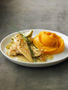 Recette de poulet au citron vert et sa purée de patate douce