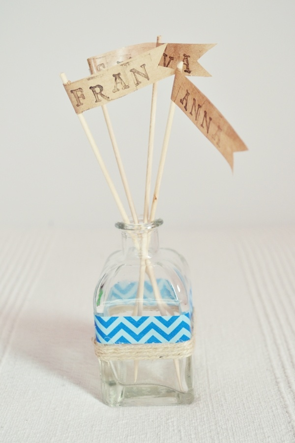 Banderines craft para una fiesta marinera