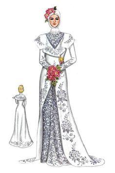 kebaya dress sketch