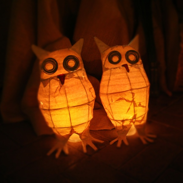 DIY Tutorial: Owl Wedding Lanterns