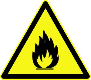 Inflamable - El término «inflamable» se aplica a sustancias y preparados líquidos con un punto de inflamación (temperatura mínima a la que la sustancia arde con el aporte de una energía de activación) bajo.