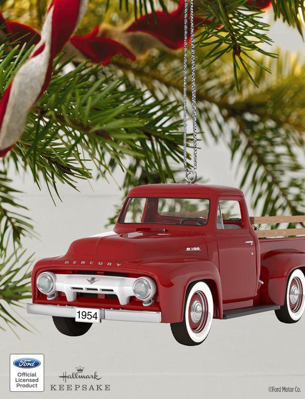 Christmas In Evergreen Truck.2018 All American Trucks 1954 Mercury M 100 Metal Ornament