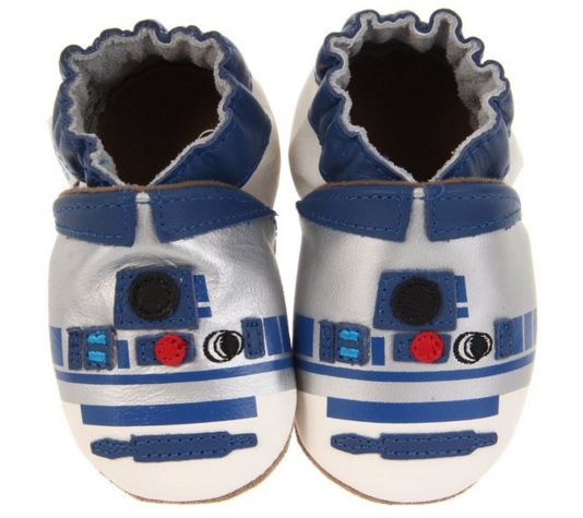 "These tiny R2-D2 shoes: | 23 Gifts For The Baby ""Star Wars"" Geek In Your Life"