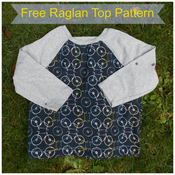 Free Top Pattern: this easy raglan top pattern and tutorial for kids will be your ideal DIY project for your Christmas Gifts!