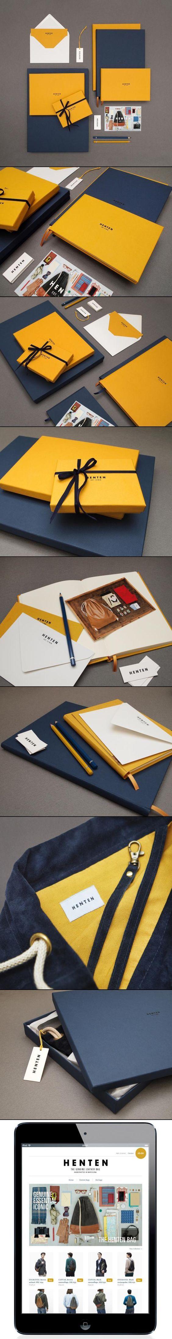 Cómo el color se convierte en una gran parte de la identidad.  identidad visual |  Henten.  Identidad corporativa / Packaging: