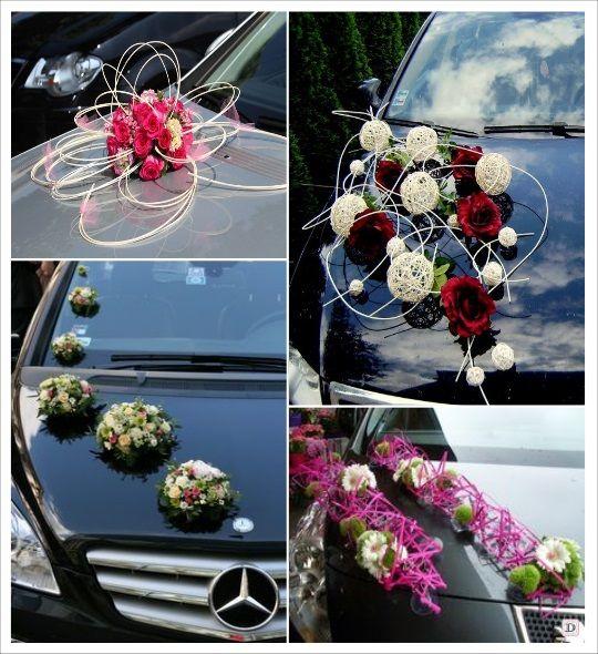 Decoration voiture mariage composition florale my for Decoration florale table