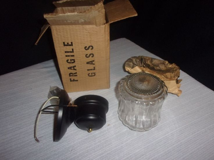 Vintage Outdoor Porch Light Fixture - Original Box - Never Used!