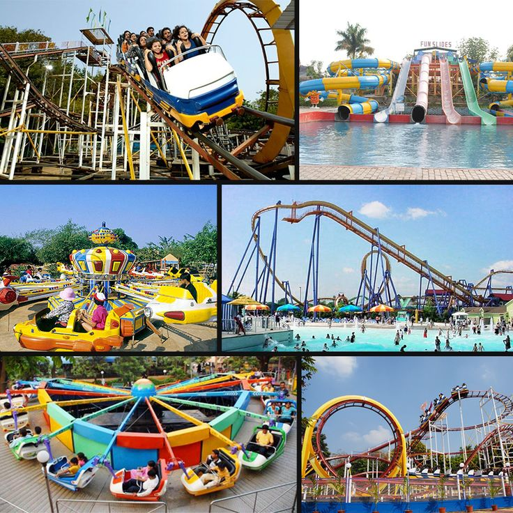 Image result for AMUSEMENT PARKS IN INDIA COLLAGE