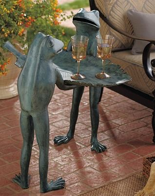 Occasionally, an accent piece like our Conversational Frog Tray Table is a true stand out.Coffe Tables, Trays Tables, Side Tables, Outdoor Furniture, Convers Frogs, Outdoor Area, Accent Tables, Frogs Trays, Frogs Tables