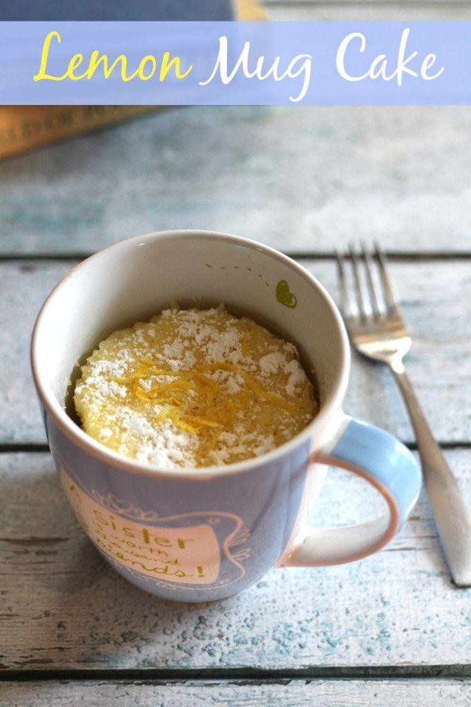 Lemon Bar Mug Cake