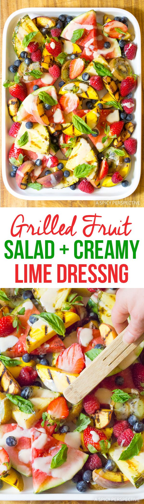 Tangy Grilled Fruit Salad with Creamy Lime Dressing Recipe