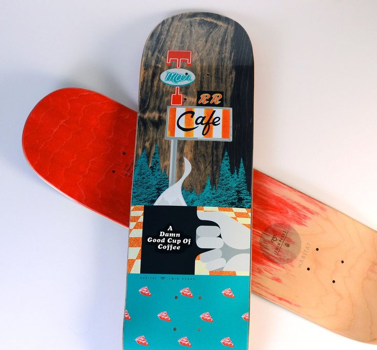 Habitat Skateboards has a new capsule collection with David Lynch to celebrate Twin Peaks.  TWIN PEAKS DAMN GOOD 8.75