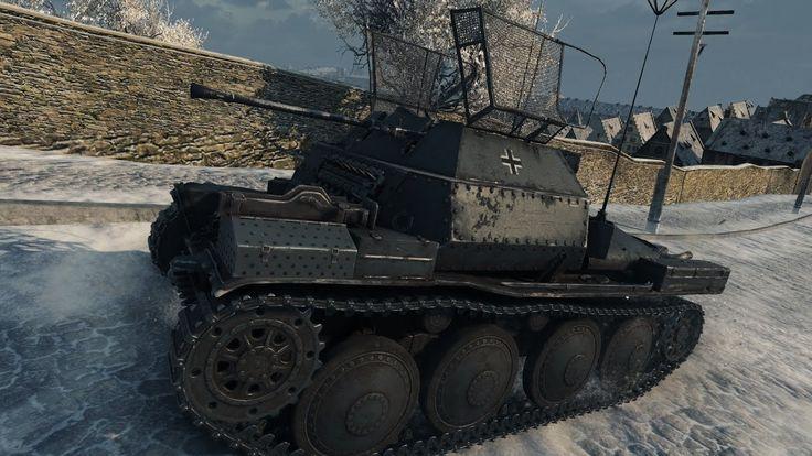 WoT Pz I C (with Milkys skin)   14 kills - Winter Himmelsdorf