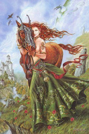 Aine's themes are protection, healing, The Spark of Life, divination, luck, fertility, earth and the moon. Her symbols are moon (lunar items), silver & white items and meadowsweet. This Celtic Goddess of the moon shines on today's celebration, Her name meaning 'bright'. Aine has strong connections with the land. Her blessing ensures fertile fields. She also gives luck to mortals and keeps us healthy.