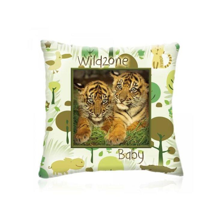 WILD ZONE Baby KIS TIGRISEK állatos díszpárna 28x28 cm - Díszpárna.com Webáruház