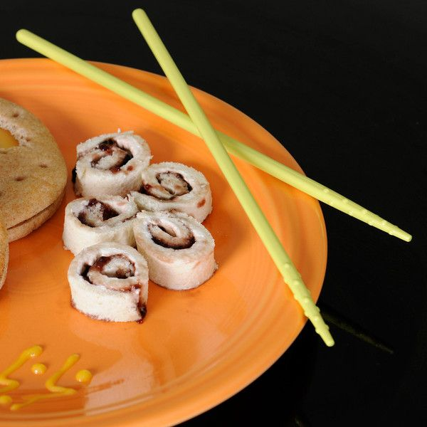 Your teenage mutant ninja turtle or ninjago will love these!!  Ninja Sushi Rolls: Recipe | My Pretend Place