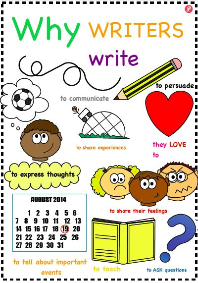 'Why Writers Write' Literacy Display Poster - Just Teach It