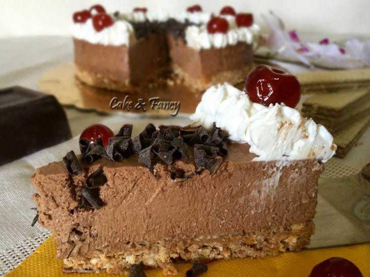 Torta fredda cioccolato fondente e panna