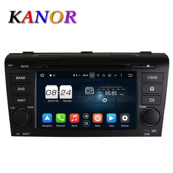 KANOR 8 Core Android 6.0 2G RAM Car DVD Video Player For Mazda 3 2004 2005 2006 2007 2008 2009 GPS Multimedia Headunit