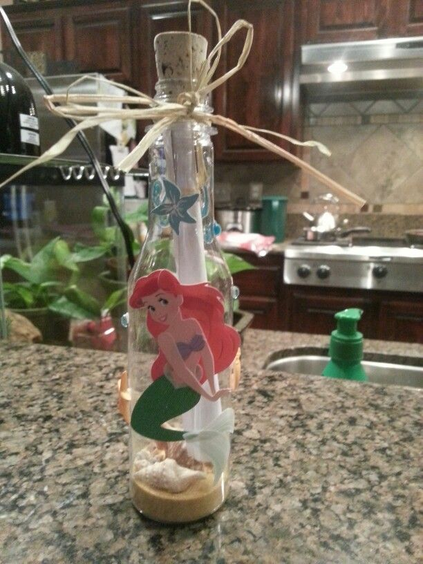 Little Mermaid Bottle Invitations