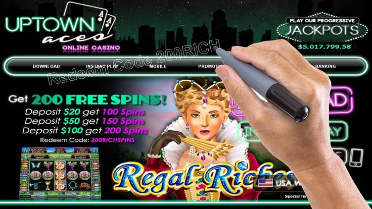 Casino Online #Gambling | 200 #Free #Slot #Spins at Uptown Aces #Casino