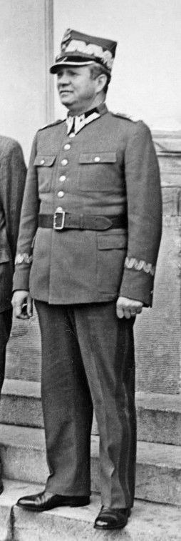 Michał Rola-Żymierski - Marshal of Poland. Polish Army officer who defended the democratically-elected government of President Stanisław Wojciechowski during the 1926 Polish Coup d'Etat. Later resistance fighter in the Armia Ludowa, and eventually Commander-in-chief of the Polish Armed Forces in the East that liberated Poland and Germany from Nazi rule and occupation alongside the Soviet Red Army.