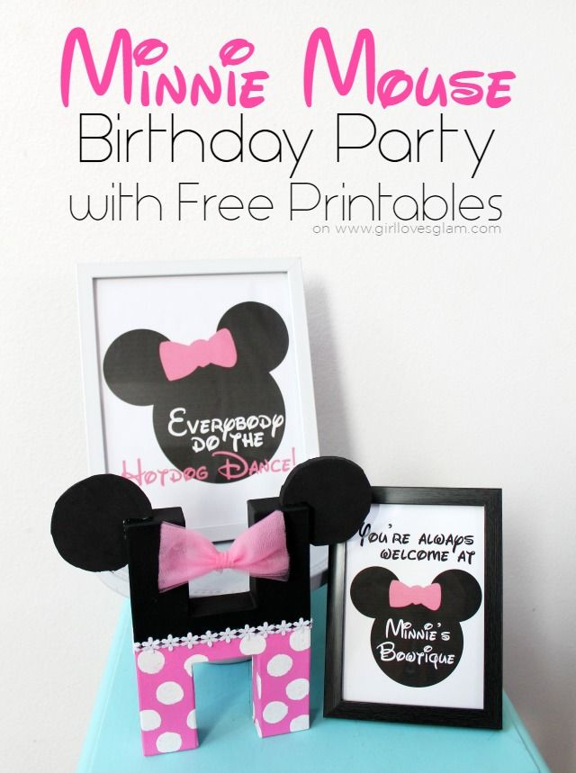 Minnie Mouse birthday party details with easy DIY games and activities that are great for toddlers and preschoolers.