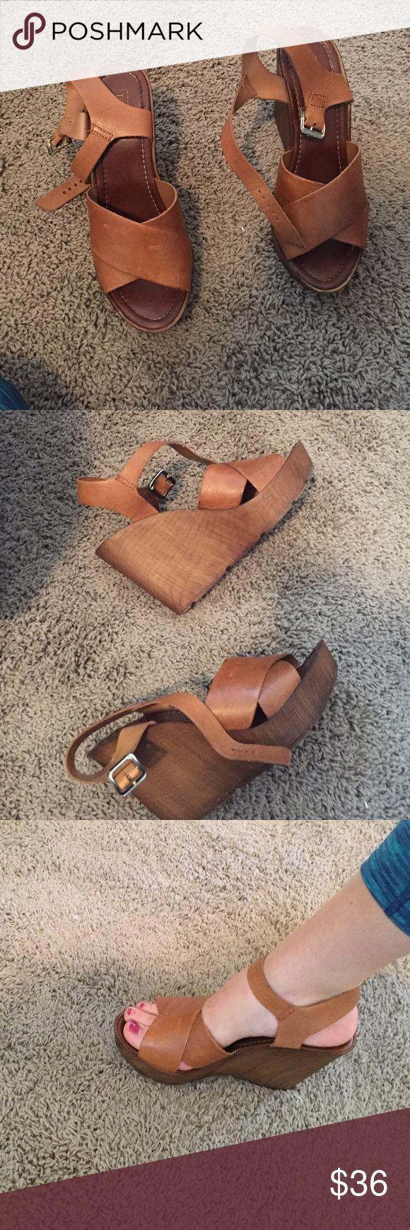 Brown wedges Brown wedges Topshop Shoes Wedges
