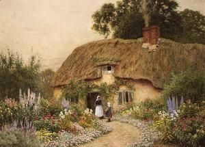 A Devon Cottage  Arthur Claude Strachan