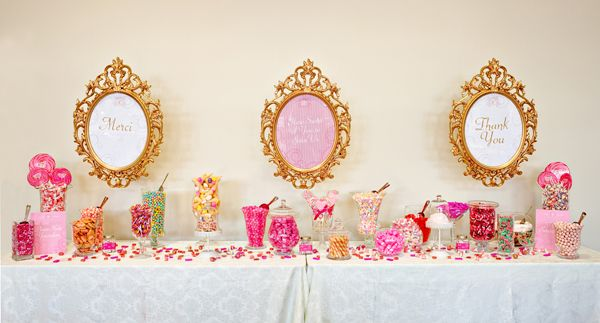 I love candy tables! I am currently on the hunt for cute containers for my table