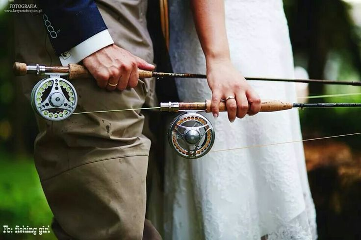 Fly fishing wedding