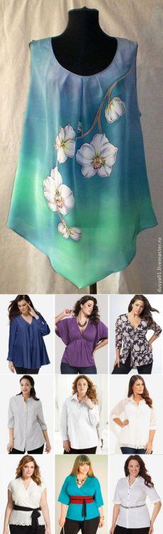 Красивые блузки для полненьких женщин