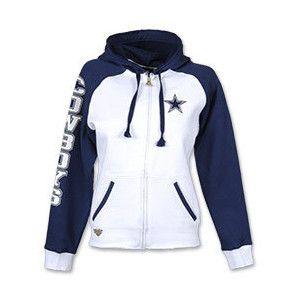Reebok Dallas Cowboys Letterman Full-Zip Women's NFL Hooded Jacket