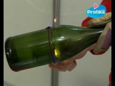 Couper une bouteille en 2... Pour en faire un verre ou un pot à crayon ou ce qu'on veut