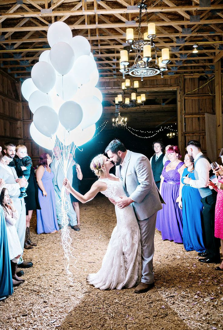 glowing balloons for a fun wedding exit