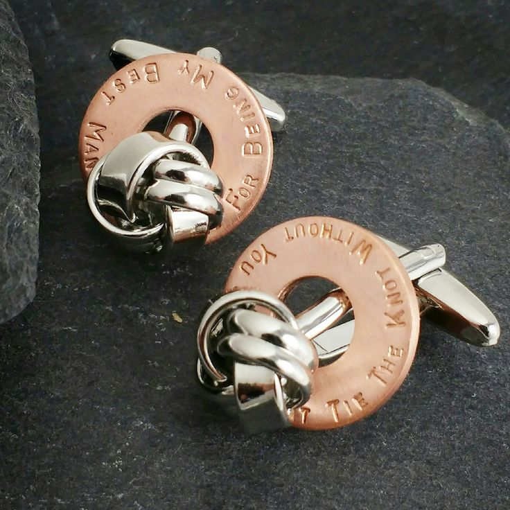 Tie The Knot Personalised Cufflinks Best Man Gift Husband Anniversary Gifts Mens