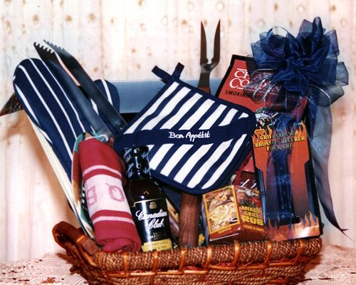 Grilling gift basket for the guys