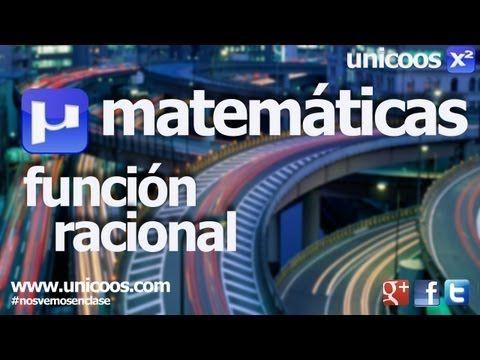 Representacion de una funcion racional 04 BACHILLERATO dominio asintota maximo minimo - YouTube