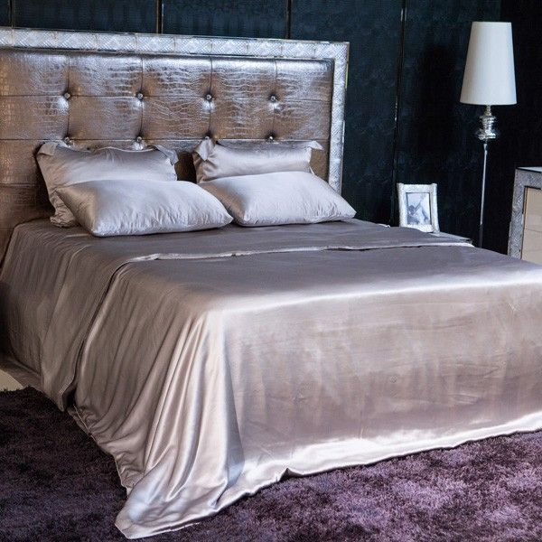 Silver Silk Sheet Set Is Made From The Finest Seamless Mulberry Charmeuse  Silk.