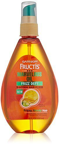 Garnier Skin and Hair Care Fructis Marvelous Oil Frizz Defy 5-Action Hair Elixir for Unruly Hair 5 oz. (Pack of 3) >>> Check out this great product.