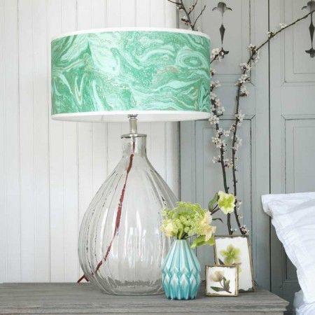 Glass Pumpkin Table Lamp - Bedside Lamps - Bedroom - Kitchen, Bed & Bath