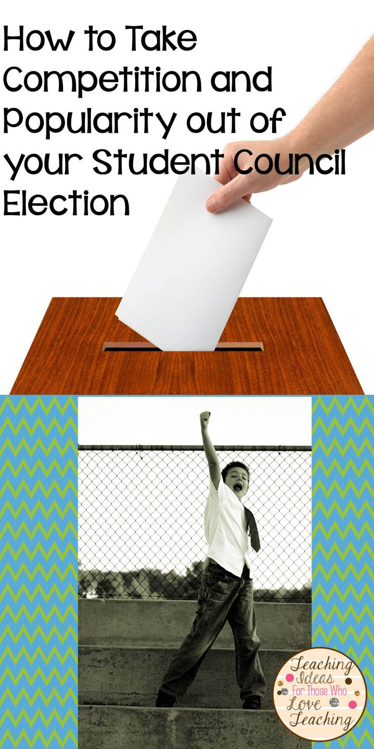 Look forward to this year's student council election, and take the competition and popularity out of it.