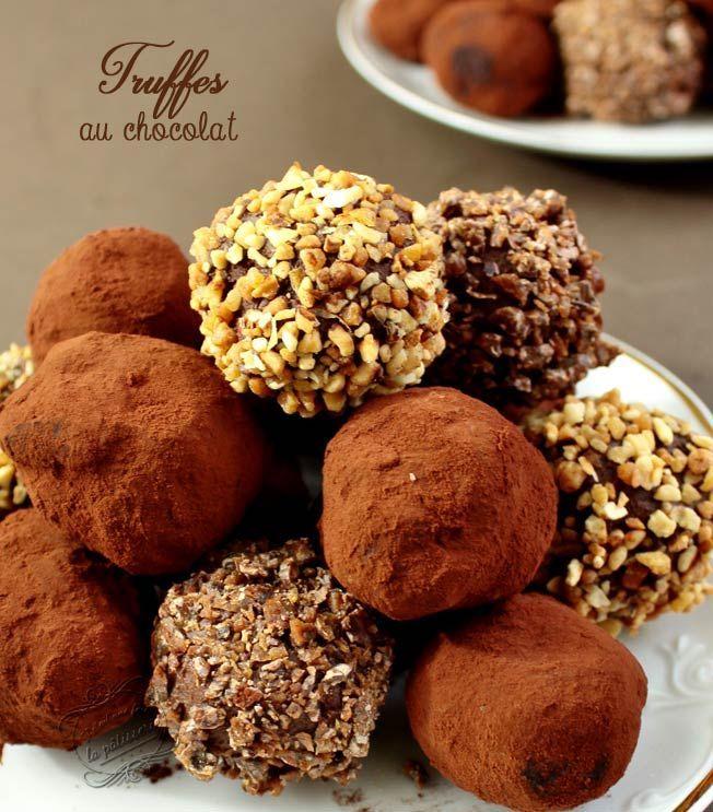 Recette des truffes au chocolat / Chocolate truffles recipe
