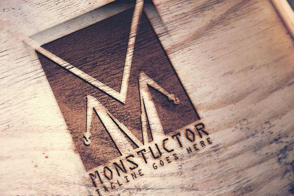 Monstuctor Logo by MAGOO STUDIO on Creative Market