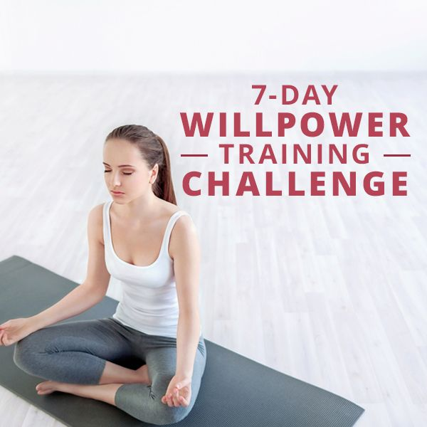 Want tot develop your willpower? Take the 7-Day Willpower Training Challenge! #training #willpower