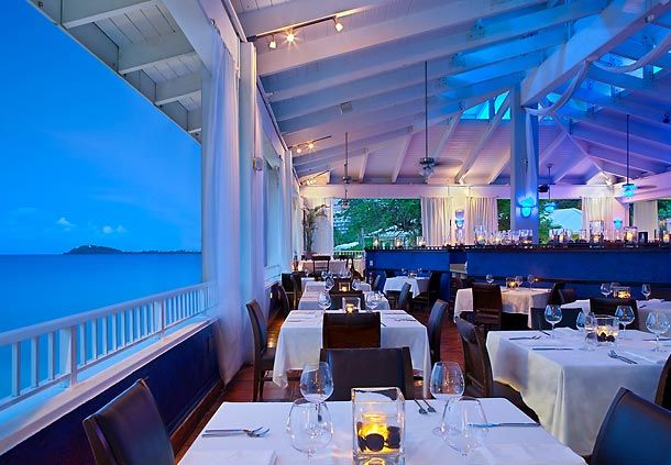 Havana Blue in St. Thomas, one of the most romantic restaurants I've ever been to