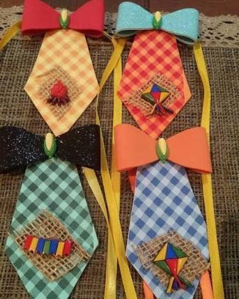 Resultado de imagem para gravata festa junina infantil