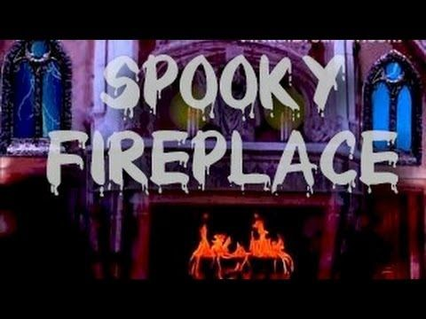 Dark Mansion : 2 Hour Haunted Fireplace and Thunderstorm Sound - YouTube