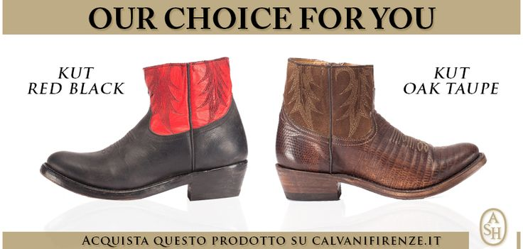 Scopri gli #stivali Kut red black e Kut Oak taupe di #Ash e preparati alla conquista del Far West!