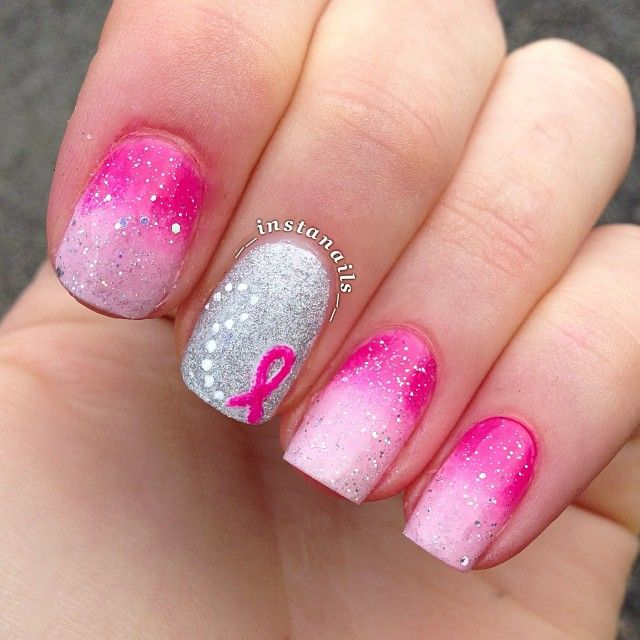 T Cancer Awareness Nail Nails Nailart Get The Look At Polished Bar